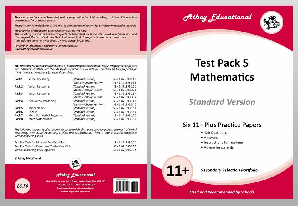 Athey Educational Publications, 11+ & Secondary Selection